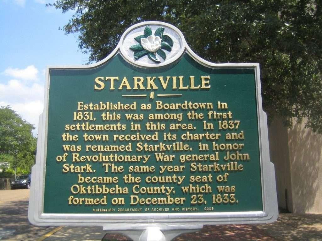 Starkville Marker