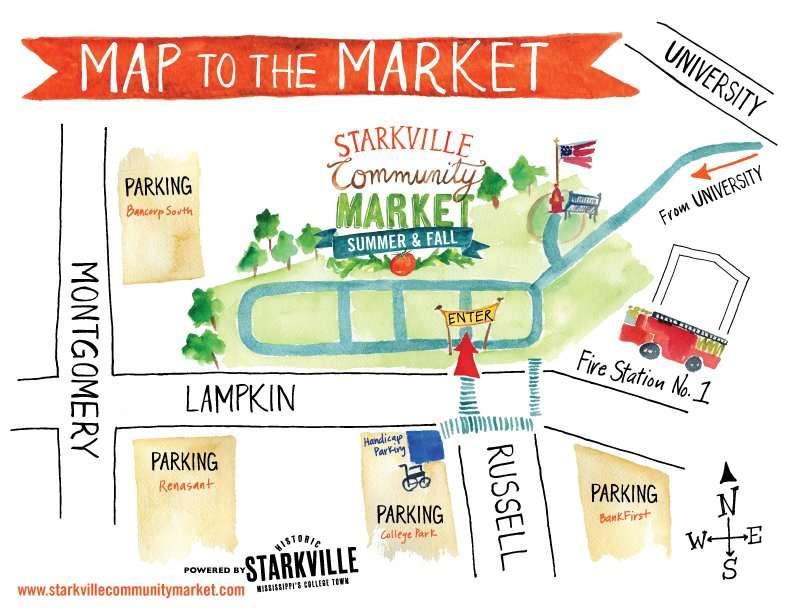 Starkville Community Market Map